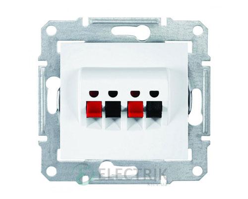 Аудиорозетка, белый, Sedna SDN5400121