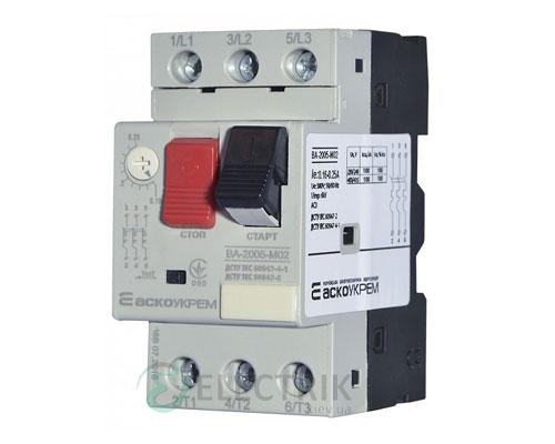 Автоматический выключатель защиты двигателя ВА-2005 М02 0,16-0,25А, АСКО-УКРЕМ