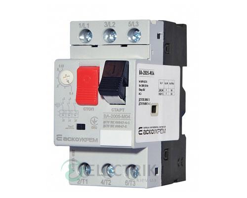 Автоматический выключатель защиты двигателя ВА-2005 М04 0,40-0,63А, АСКО-УКРЕМ