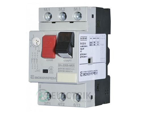 Автоматический выключатель защиты двигателя ВА-2005 М05 0,63-1,0А, АСКО-УКРЕМ