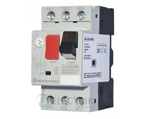 Автоматический выключатель защиты двигателя ВА-2005 М06 1,0-1,6А, АСКО-УКРЕМ
