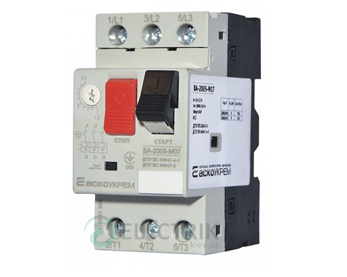 Автоматический выключатель защиты двигателя ВА-2005 М07 1,6-2,5А, АСКО-УКРЕМ