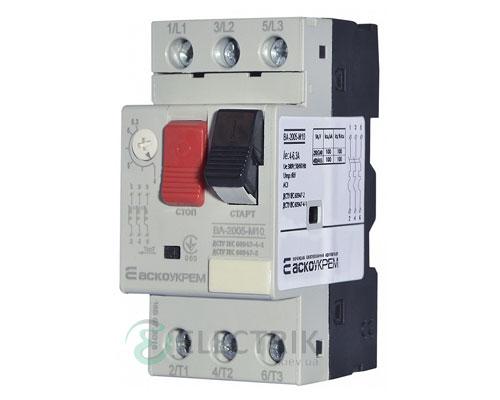 Автоматический выключатель защиты двигателя ВА-2005 М10 4,0-6,3А, АСКО-УКРЕМ