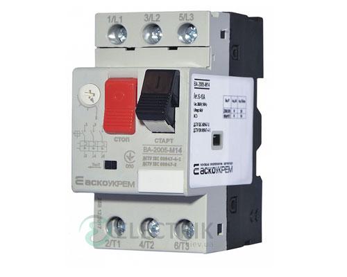 Автоматический выключатель защиты двигателя ВА-2005 М14 6,0-10,0А, АСКО-УКРЕМ