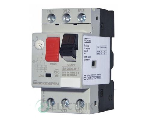 Автоматический выключатель защиты двигателя ВА-2005 М16 9,0-14,0А, АСКО-УКРЕМ
