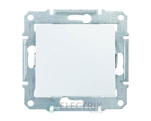 Выключатель одноклавишный двухполюсный, белый, Sedna SDN0200121