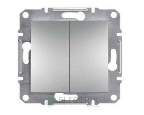 Кнопка двойная алюминий, Asfora EPH1100161
