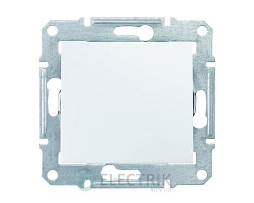 Выключатель одноклавишный IP44, белый, Sedna SDN0100321