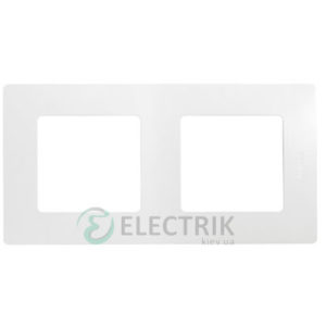 Рамка 2-постовая, белый Legrand Etika