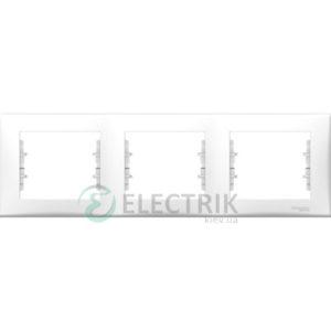 Рамка 3-постовая горизонтальная белая, Sedna SDN5800521