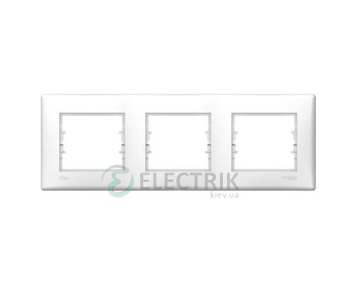 Рамка 3-постовая горизонтальная IP44, белая, Sedna SDN5810721