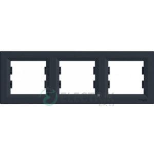 Рамка 3-постовая, горизонтальная антрацит, Asfora EPH5800371