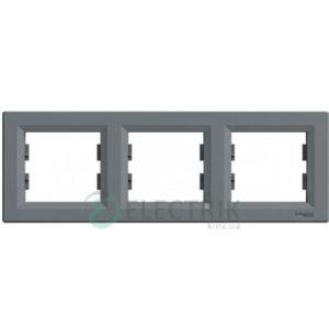 Рамка 3-постовая, горизонтальная сталь, Asfora EPH5800362