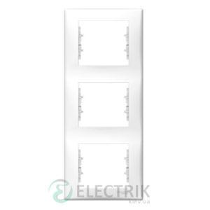 Рамка 3-постовая вертикальная белая, Sedna SDN5801321