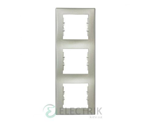 Рамка 3-постовая вертикальная, титан, Sedna SDN5801368