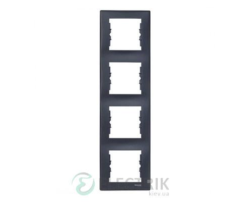 Рамка 4-постовая вертикальная графит, Sedna SDN5802070
