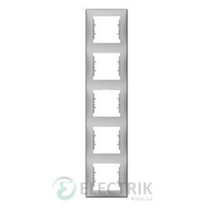 Рамка 5-постовая вертикальная, алюминий, Sedna SDN5801560