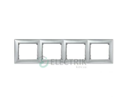 Рамка четырехпостовая Legrand Valena 770154 (алюминий)