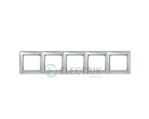 Рамка пятипостовая Legrand Valena 770155 (алюминий)