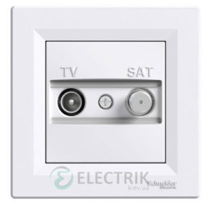 Розетка TV-SAT индивидуальная (1 дБ) Белая, Asfora EPH3400421