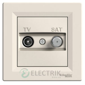 Розетка TV-SAT индивидуальная (1 дБ) крем, Asfora EPH3400423