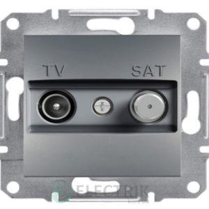 Розетка TV-SAT индивидуальная (1 дБ) сталь, Asfora EPH3400462