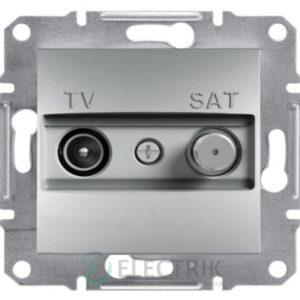 Розетка TV-SAT оконечная (1 дБ) алюминий, Asfora EPH3400161