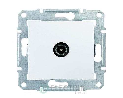 Розетка TV оконечная, 1 dB, белый, Sedna SDN3201621