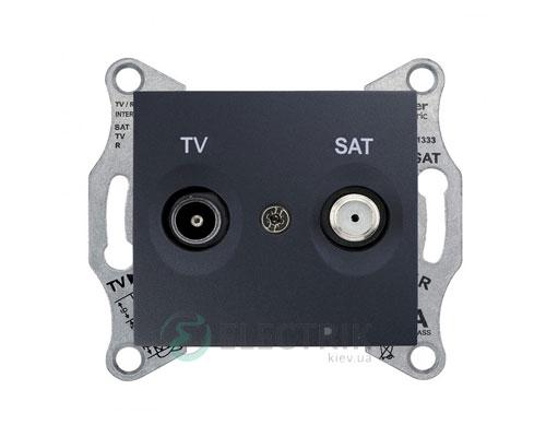 Розетка ТV/SAT проходная, 8 dB, графит, Sedna SDN3401270
