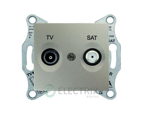 Розетка ТV/SAT проходная, 8 dB, титан, Sedna SDN3401268