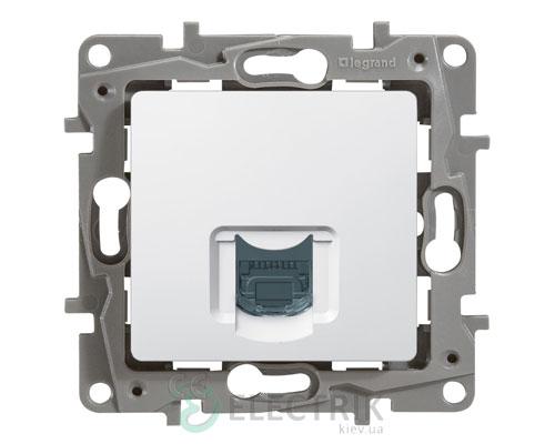 Розетка компьютерная RJ45 кат.5 UTP, 1-гнездо, белый Legrand Etika