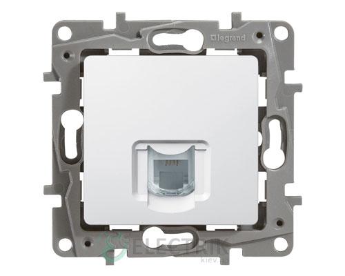 Розетка телефонная RJ11, 1-гнездо, белый Legrand Etika