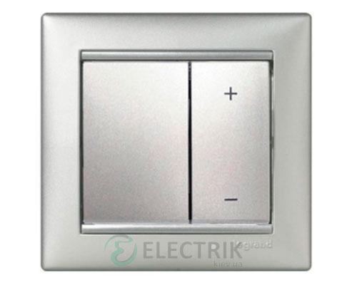 Светорегулятор кнопочный Legrand Valena 40-600Вт 770274 (алюминий)