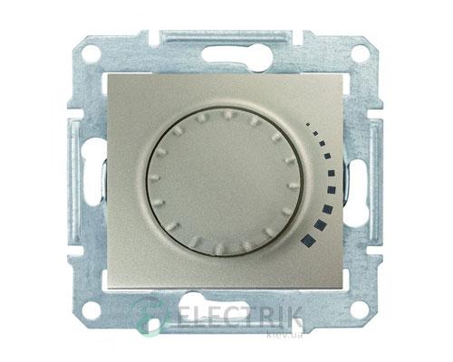 Светорегулятор проходной поворотно-нажимной емкостной, титан, Sedna SDN2200768