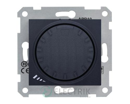 Светорегулятор проходной поворотно-нажимной емкостной, 1000 Вт, графит, Sedna SDN2200970