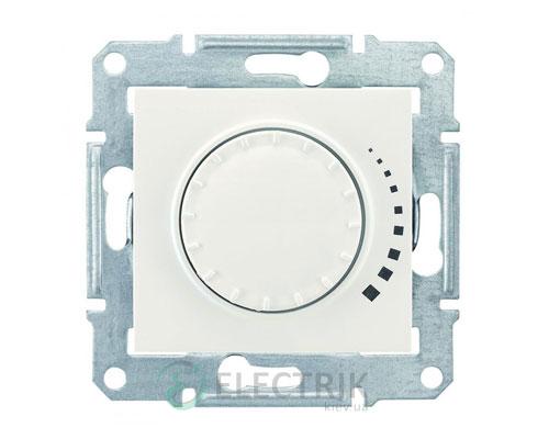 Светорегулятор проходной поворотно-нажимной индуктивный, слоновая кость, Sedna SDN2200523