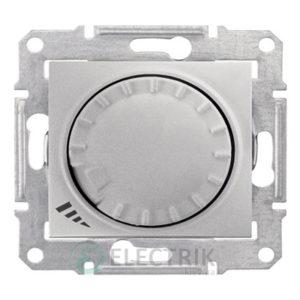 Светорегулятор проходной, поворотно-нажимной универсальный, алюминий, Sedna SDN2201160