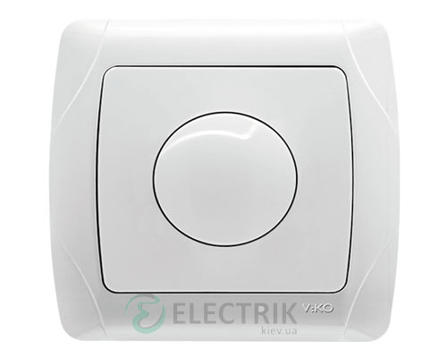 Светорегулятор поворотный Viko Carmen 1000 Вт, белый (90561069)