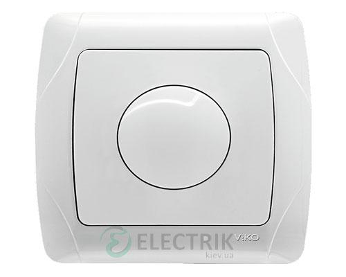 Светорегулятор поворотный Viko Carmen 600 Вт, белый (90561020)
