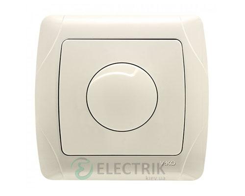Светорегулятор поворотный Viko Carmen 600 Вт, крем (90562020)
