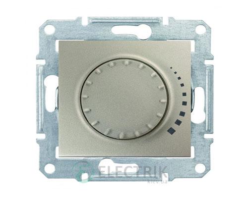 Светорегулятор поворотный емкостной, титан, Sedna SDN2200668