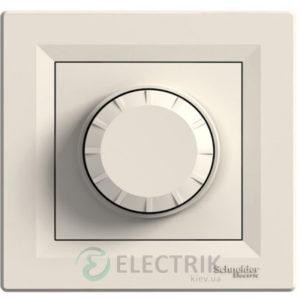 Светорегулятор поворотный с подсветкой, крем, Asfora EPH6500123