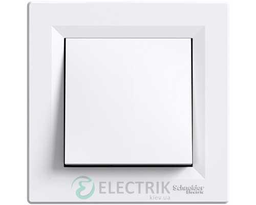 Выключатель одноклавишный, белый, Asfora EPH0100121