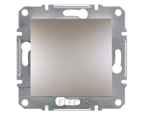 Выключатель одноклавишный, бронза, Asfora EPH0100169