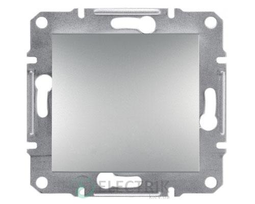 Выключатель одноклавишный двухполюсный, алюминий Asfora EPH0200161