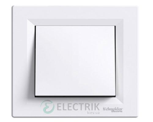 Выключатель одноклавишный двухполюсный, белый, Asfora EPH0200121