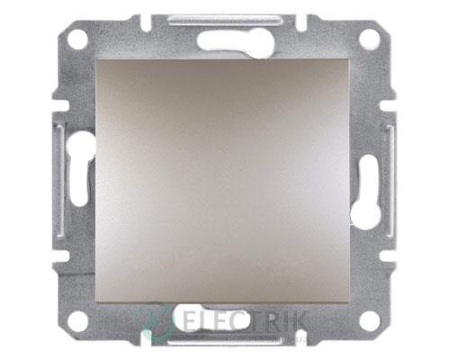 Выключатель одноклавишный двухполюсный, бронза, Asfora EPH0200169