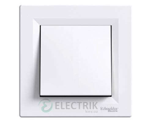 Выключатель одноклавишный перекрестный, белый, Asfora EPH0500121