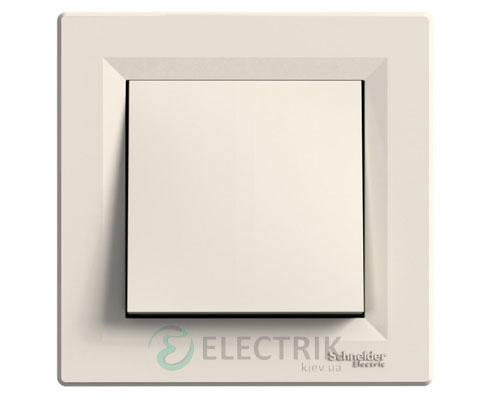 Выключатель одноклавишный перекрестный, крем, Asfora EPH0500123