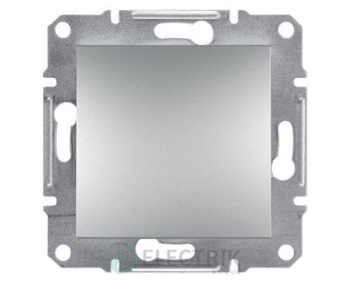 Выключатель одноклавишный проходной, алюминий Asfora, EPH0400161